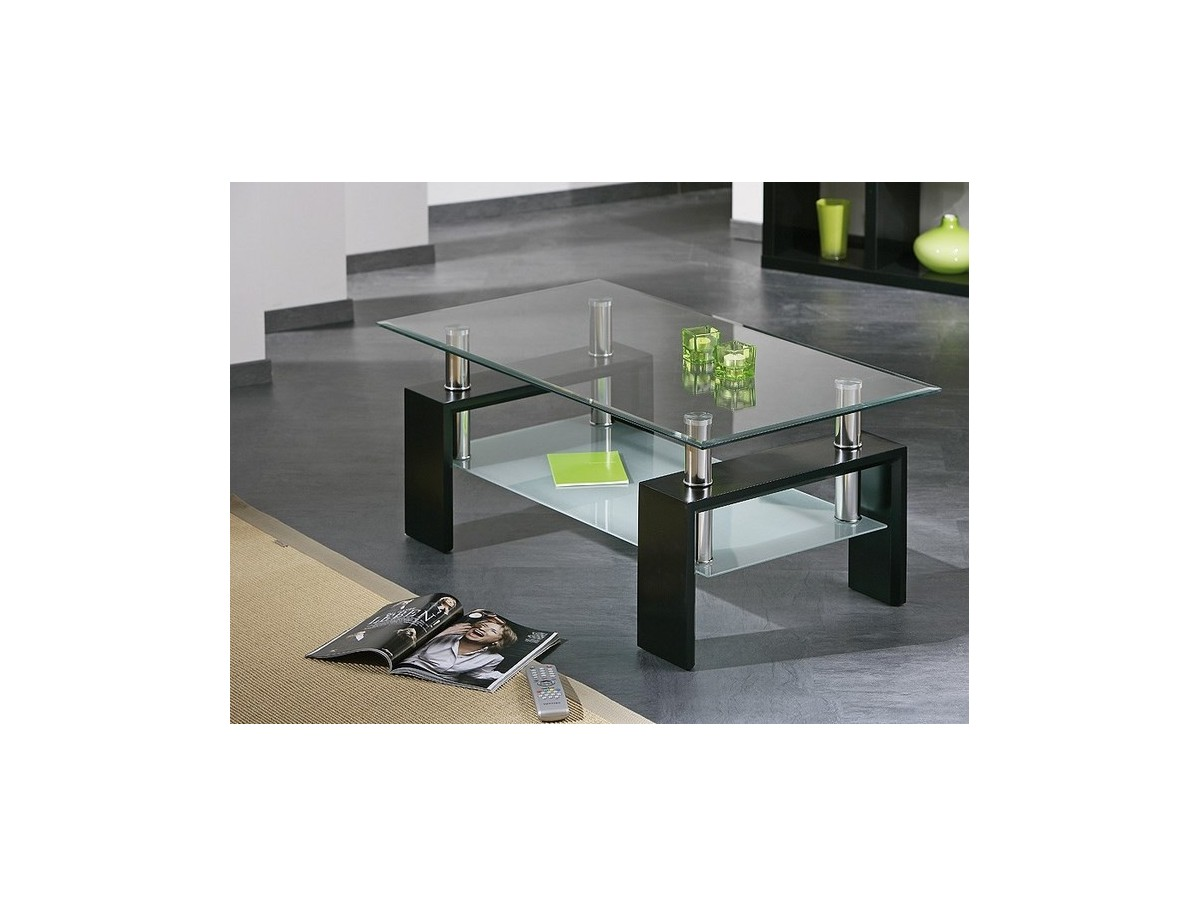 table basse dessus verre niagara tidy home. Black Bedroom Furniture Sets. Home Design Ideas