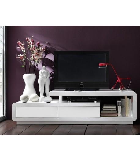 meuble tv laqu blanc daryl tidy home. Black Bedroom Furniture Sets. Home Design Ideas