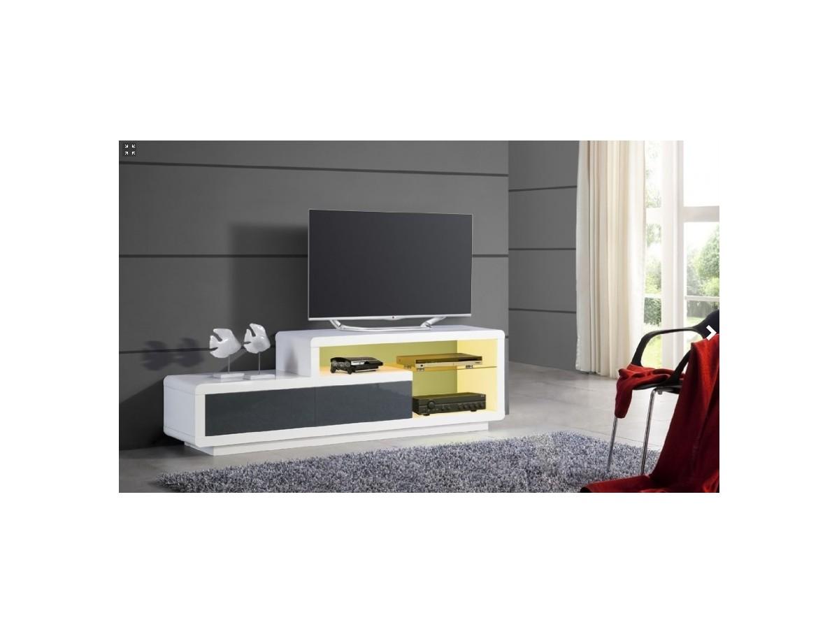 Meuble Tv Laqu Blanc Daryl Tidy Home # Meuble Tv Design Haut De Gamme