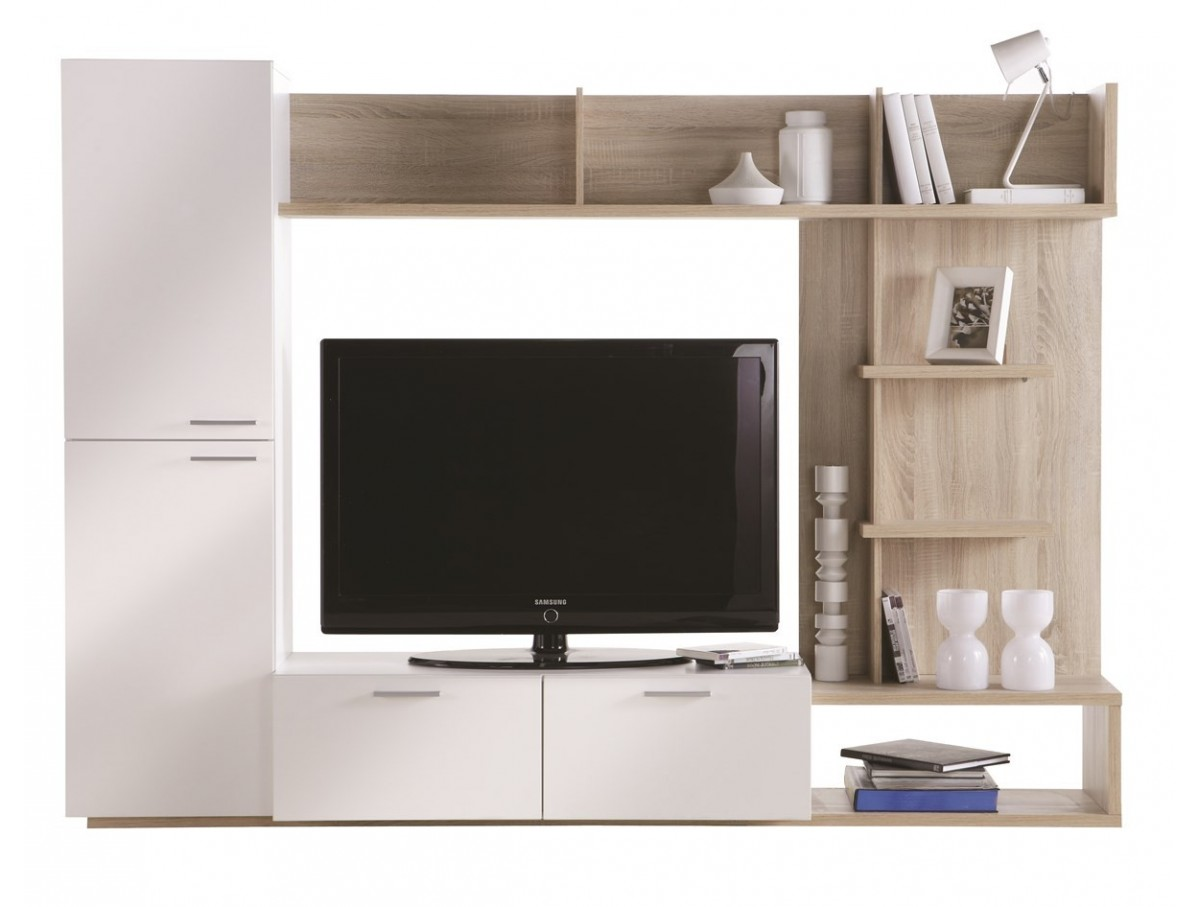 living tv ch ne clair et blanc tidy home