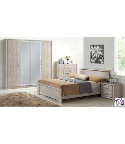 Chambre adulte Emily grise