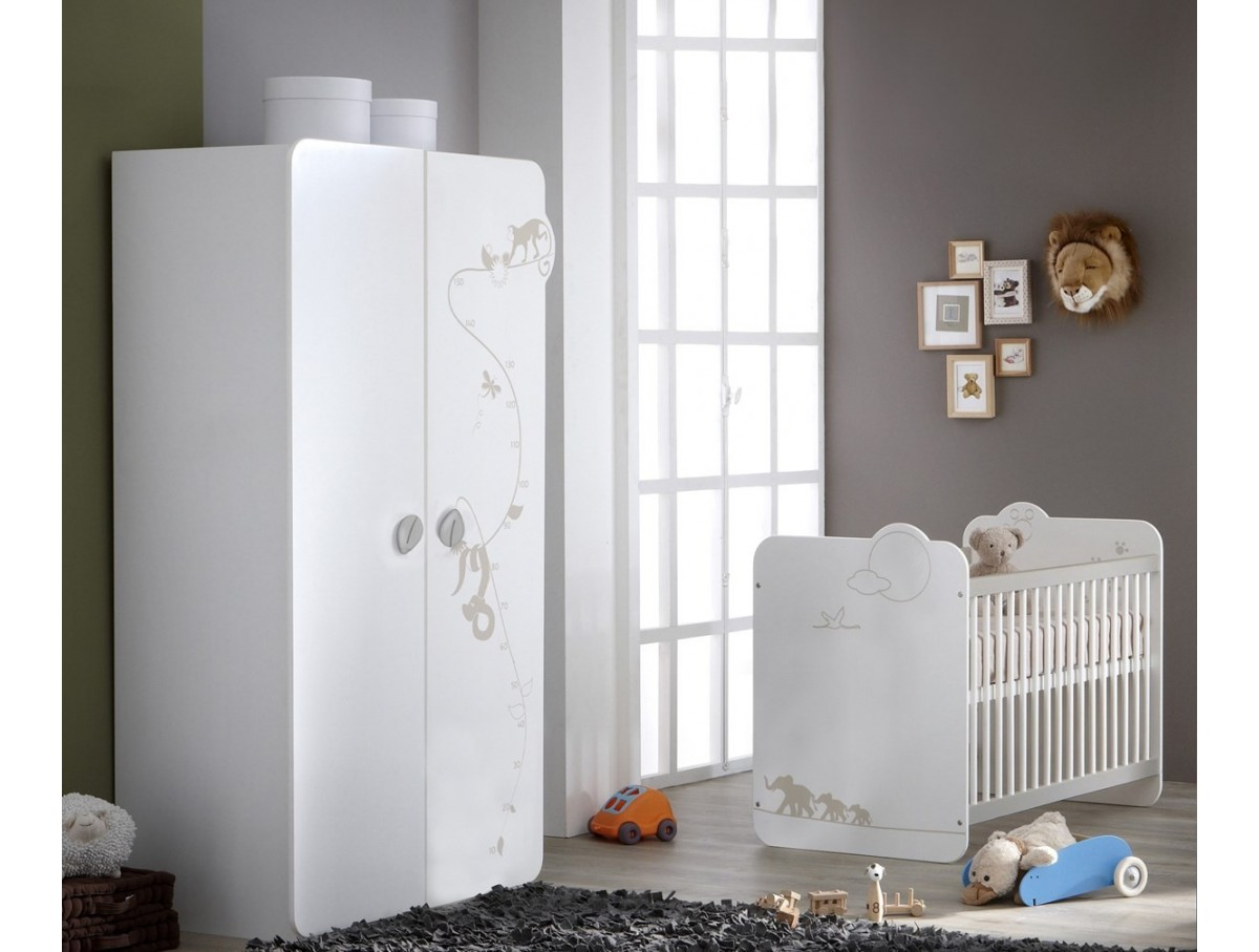 Chambre b b avec matelas moogly tidy home - Destockage chambre bebe ...
