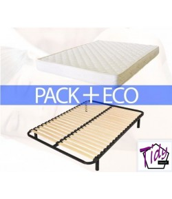 pack eco 160 matelas sommier tidy home. Black Bedroom Furniture Sets. Home Design Ideas