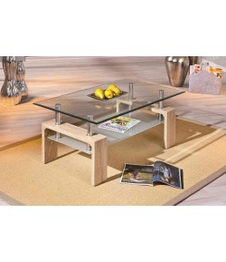 """TABLE BASSE """"CYNDY"""" CHENE CLAIRE"""