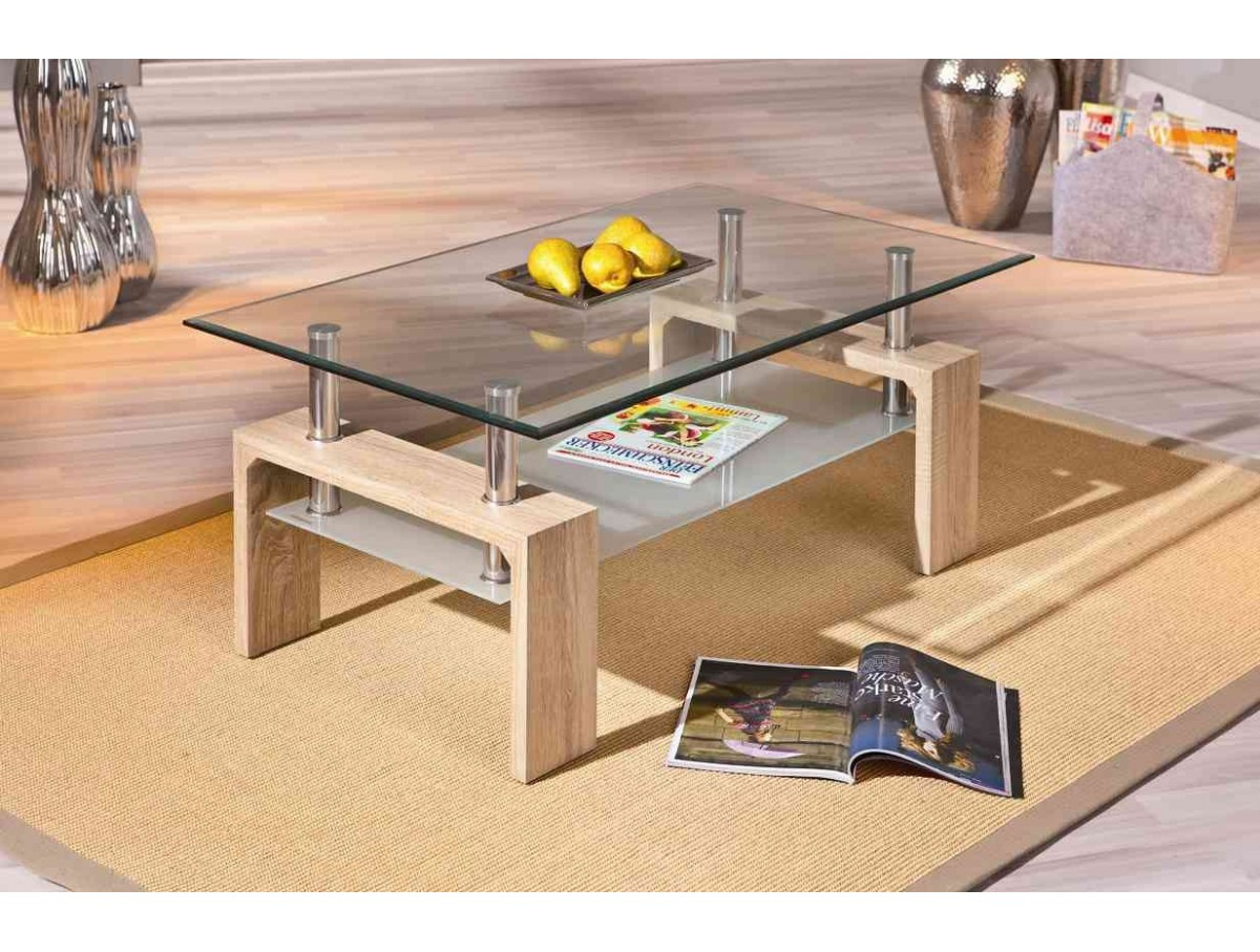 Table basse cyndy chene claire tidy home - Table basse chene clair ...