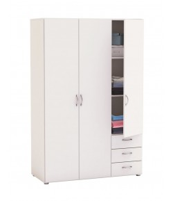Armoire 3 portes 3 tiroirs Laurence