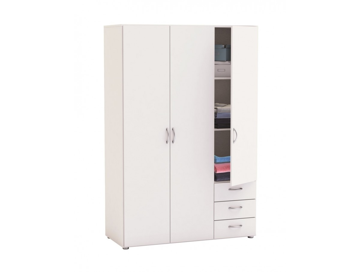 armoire 3 portes 3 tiroirs laurence tidy home. Black Bedroom Furniture Sets. Home Design Ideas