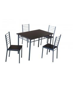Table + 4 chaises Thierry wengé