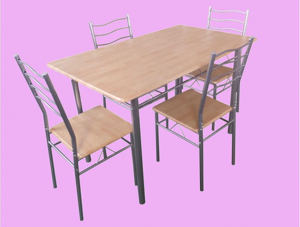 Ensemble table 4 chaises brandon tidy home for Table 4 chaises cuisine