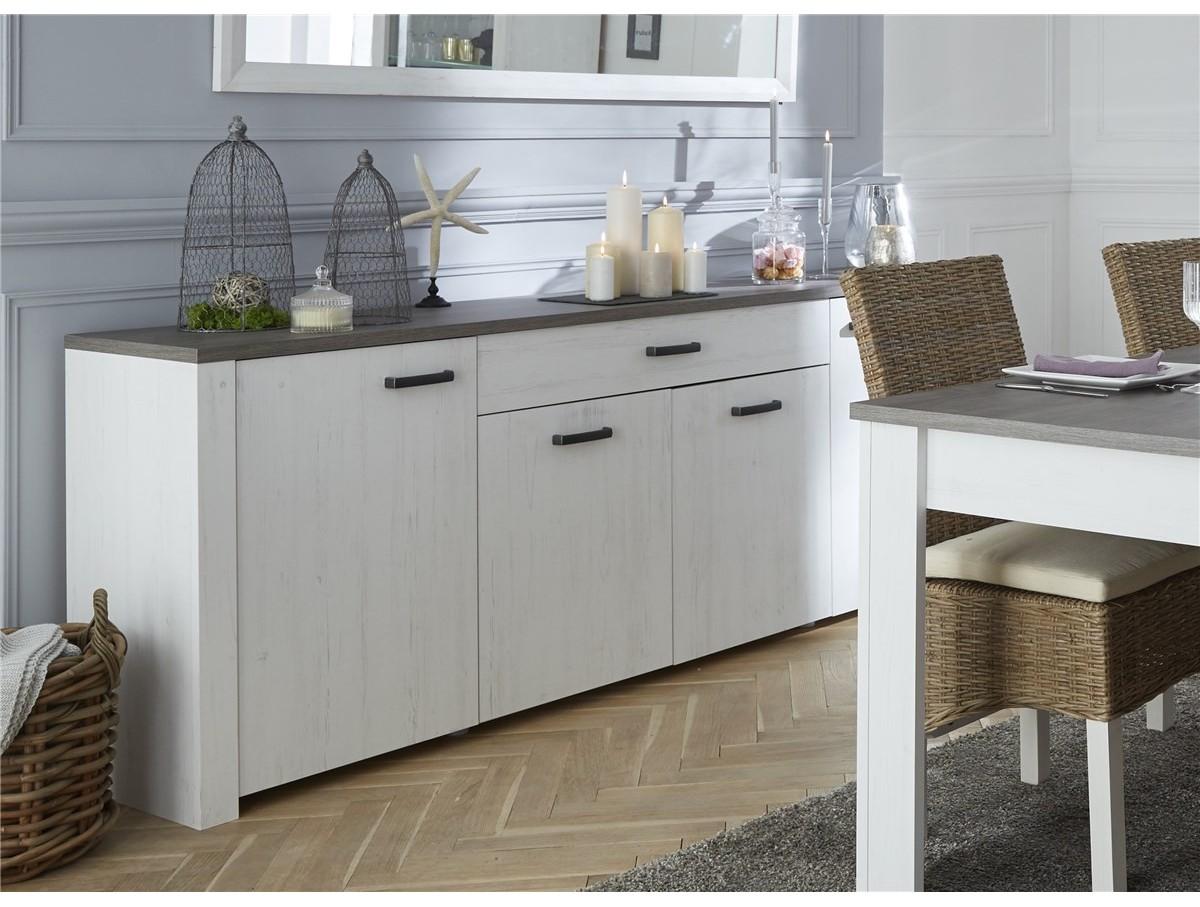 buffet 4 portes 1 tiroir valentin tidy home. Black Bedroom Furniture Sets. Home Design Ideas