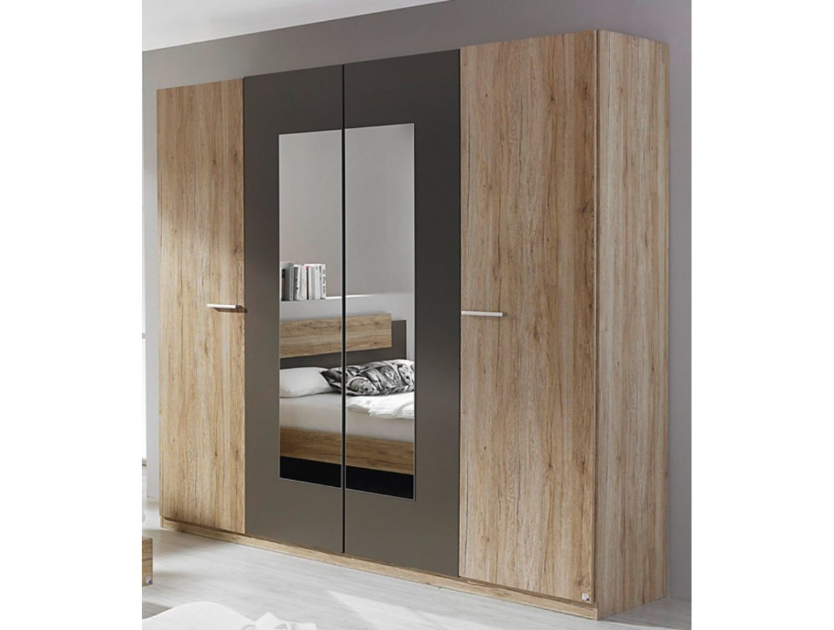 armoire 4 portes brice tidy home. Black Bedroom Furniture Sets. Home Design Ideas