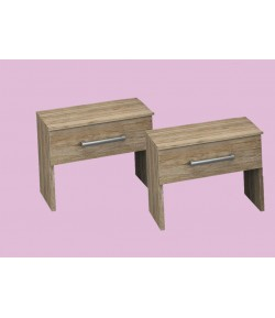 Lot de 2 chevets bambou