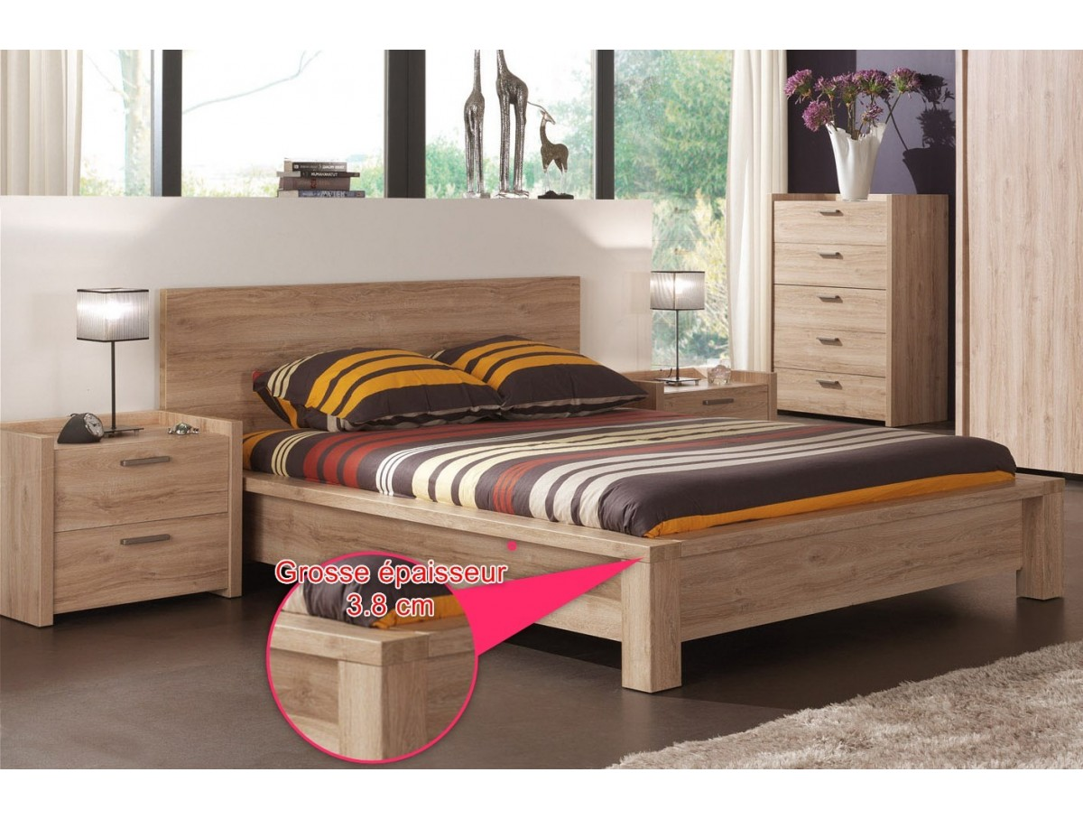 lit 160. Black Bedroom Furniture Sets. Home Design Ideas