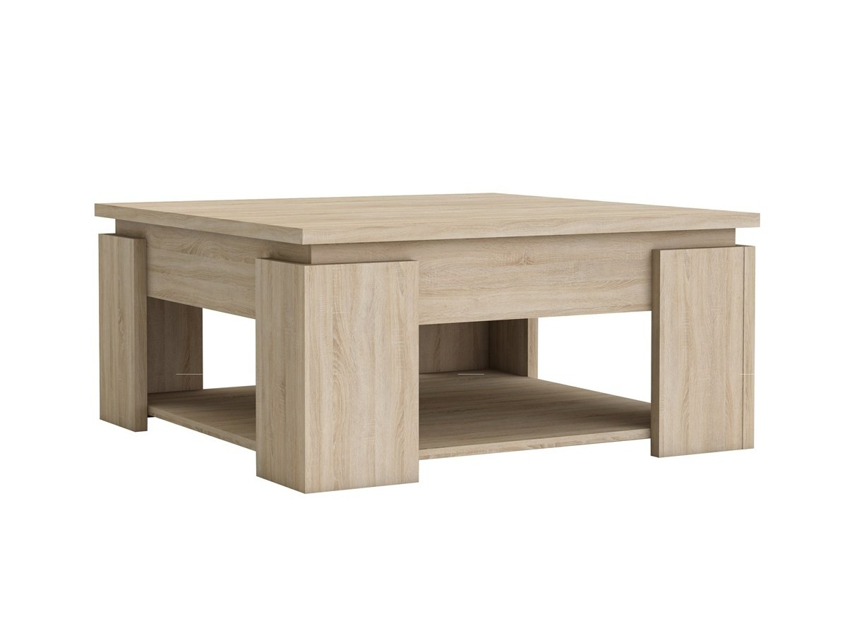 Table basse carree requiem tidy home - Table basse destockage ...