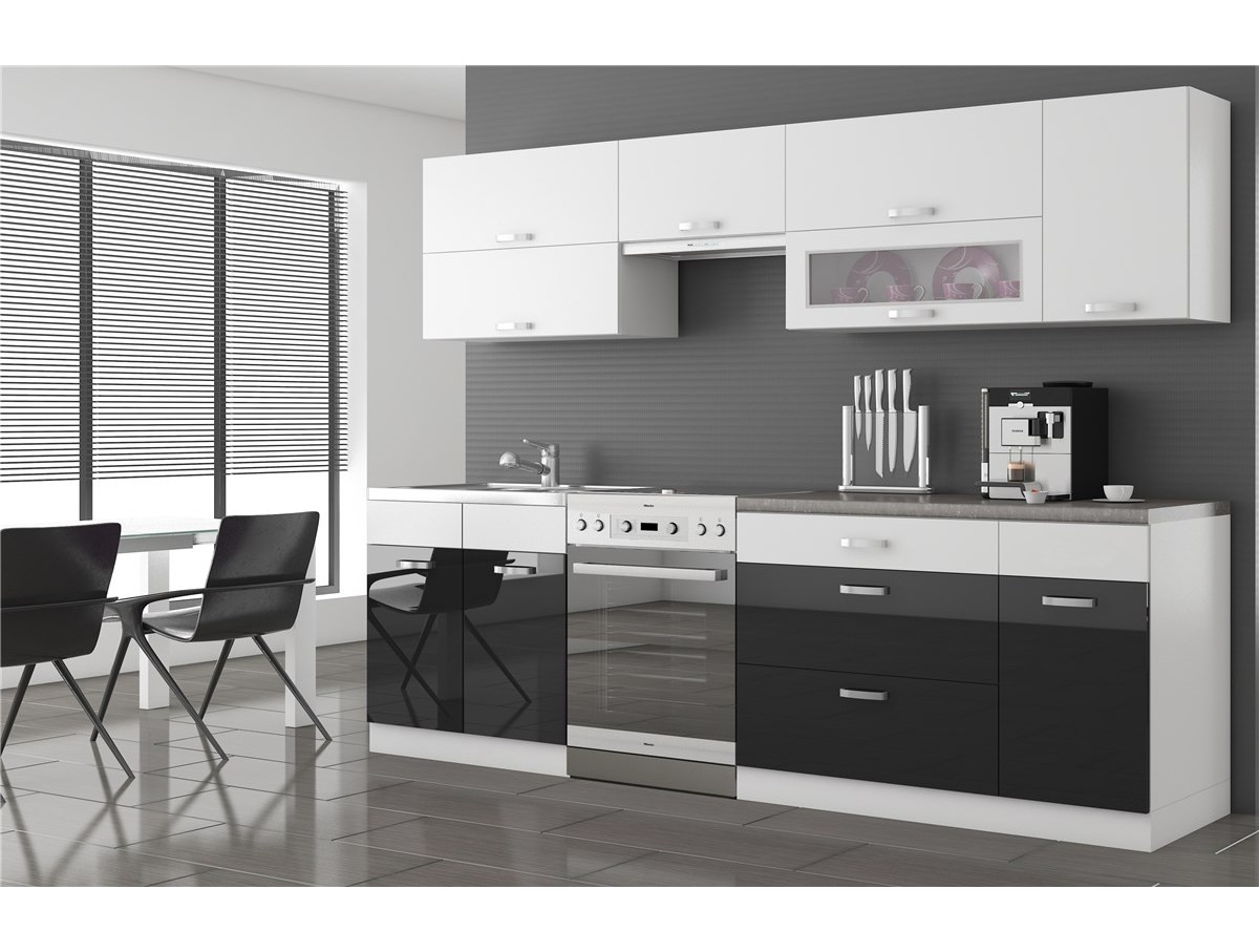 cuisine new york noire grise blanche tidy home. Black Bedroom Furniture Sets. Home Design Ideas