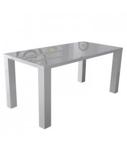 Table de séjour blanche laqué 160cm