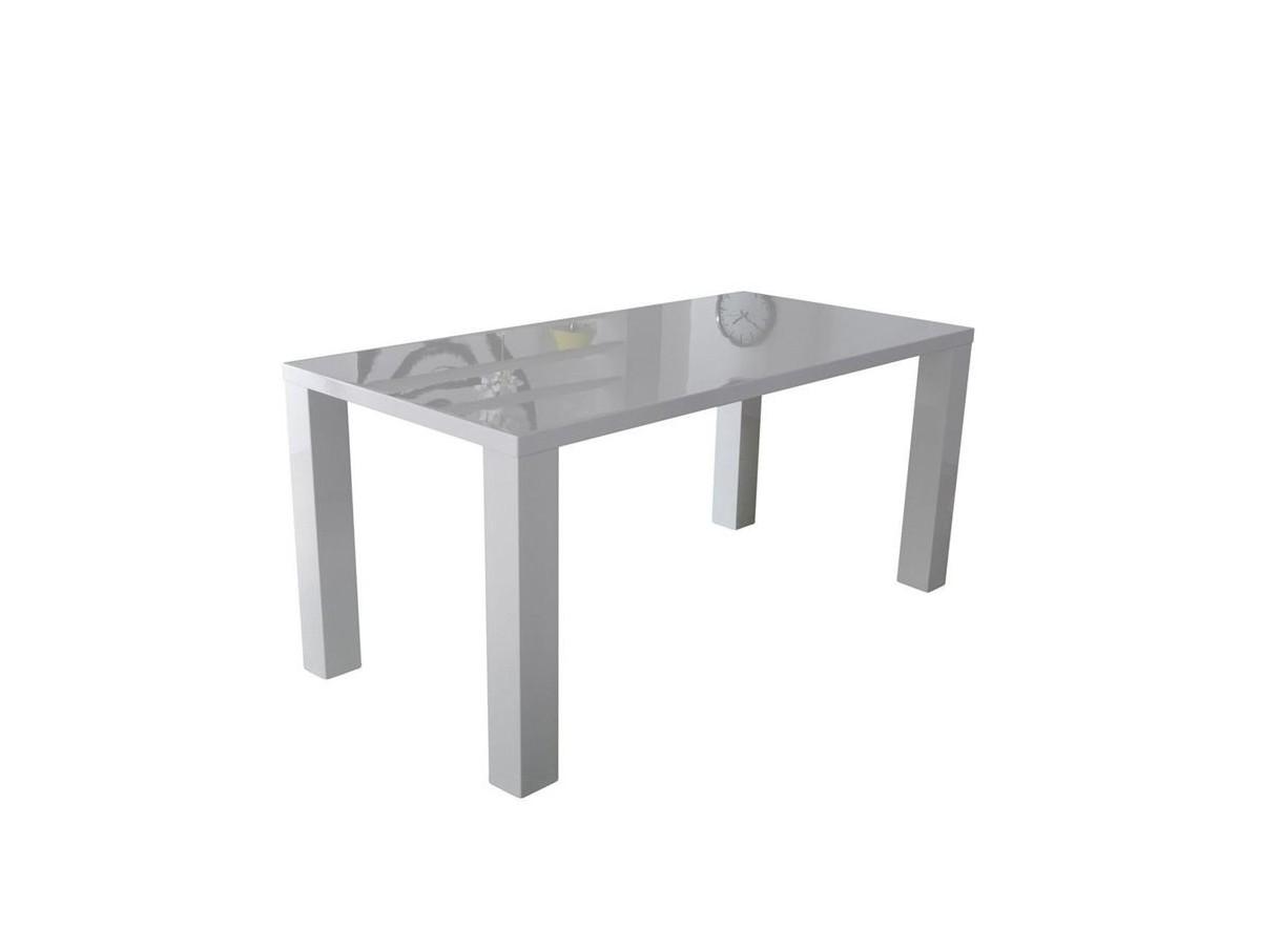 table de s jour blanche laqu 160cm tidy home. Black Bedroom Furniture Sets. Home Design Ideas