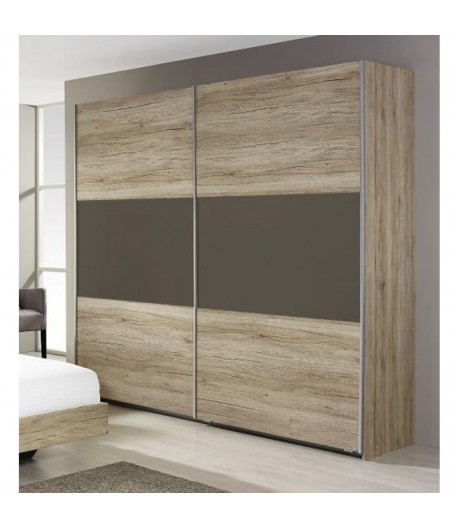 Armoire 2 Portes Coulissantes Bambou Tidy Home