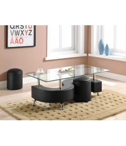 Table basse avec poufs Dollar