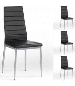 Lot de 4 chaises adeline noire