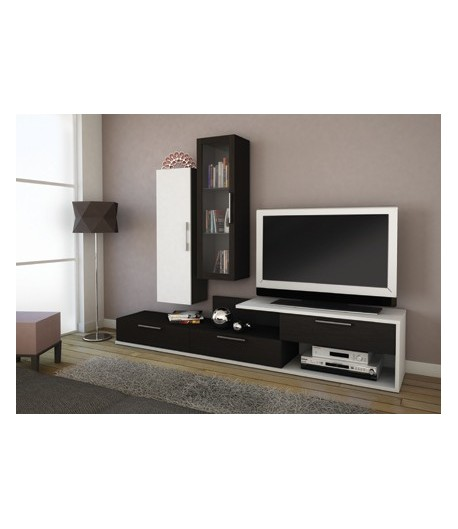 Destockage meuble tv maison design for Meuble living tv