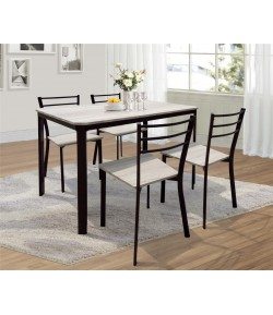 Ensemble table + 4 chaises lydie