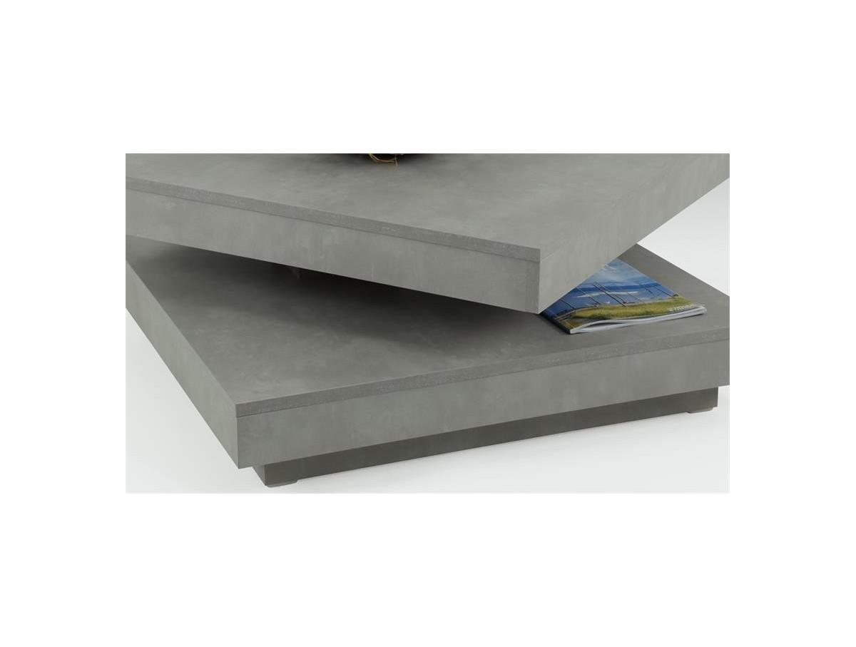 Moderne Table Carrée Basse Béton Pivotante m8nw0vN