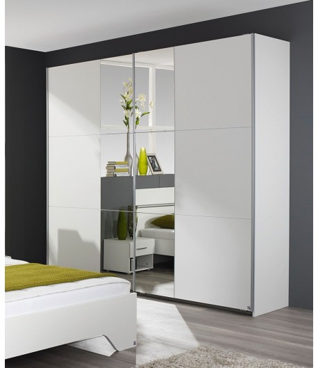 armoire 2 portes coulissantes fellini tidy home. Black Bedroom Furniture Sets. Home Design Ideas