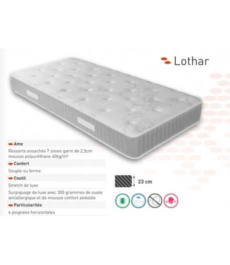 Matelas relaxation ressorts ensach s lothard tidy home - Matelas memoire de forme soldes ...