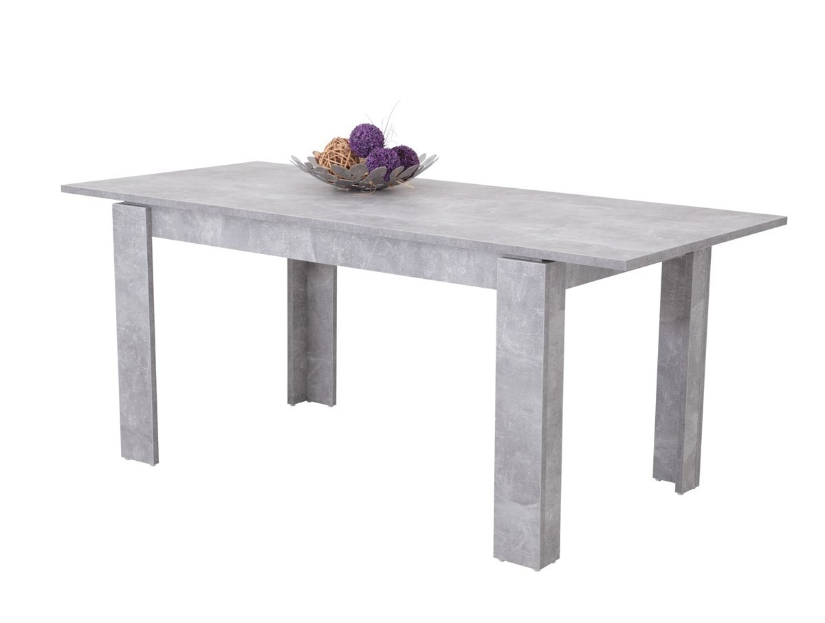 Table extensible avec allonge couleur b ton for Table 140 cm extensible