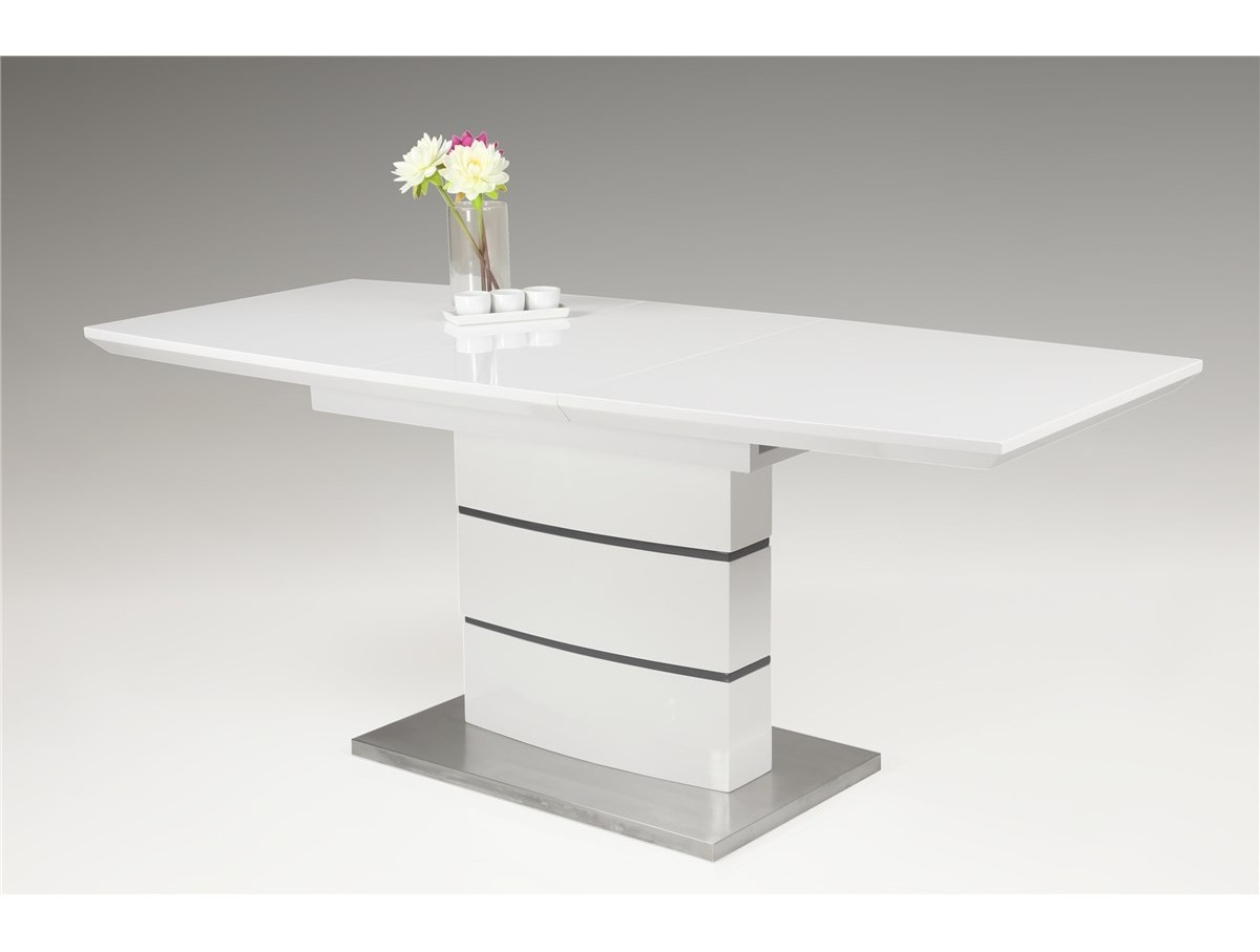 Table extensible pied central clarisse tidy home - Table a manger pied central ...