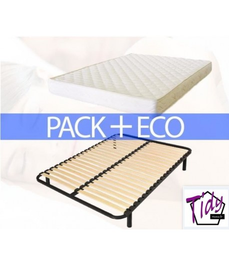 pack eco plus matelas sommier tidy home. Black Bedroom Furniture Sets. Home Design Ideas