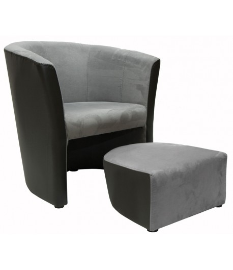 fauteuil cabriolet avec pouf felin tidy home. Black Bedroom Furniture Sets. Home Design Ideas