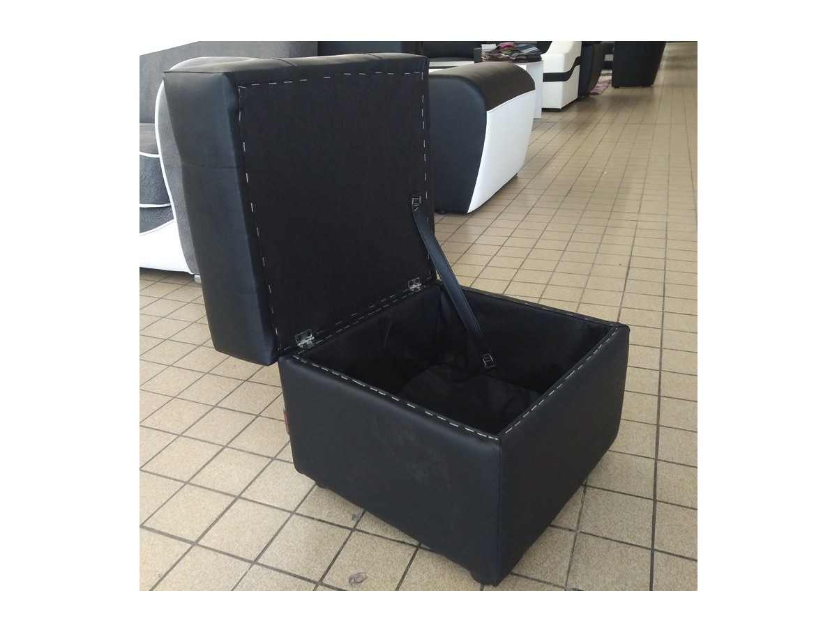 pouf carr avec coffre de rangement zira tidy home. Black Bedroom Furniture Sets. Home Design Ideas