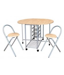 Ensemble table pliante + 2 chaises marseille