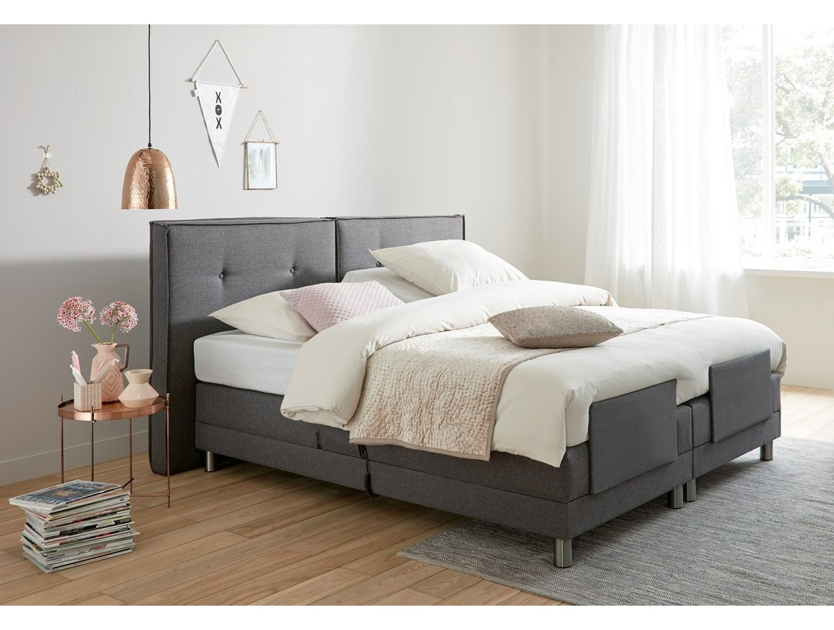 ensemble boxspring 160x200 relax electrique tidy home. Black Bedroom Furniture Sets. Home Design Ideas