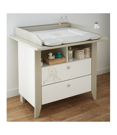 Commode teddy a langer grand mod le tidy home - Table a langer pour commode ...