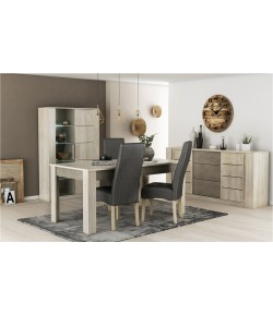 Séjour Florida : Buffet + Table 170cm + vitrine