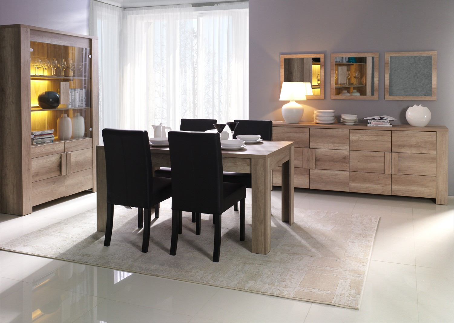 Sejour Fenix Buffet Table De Sejour 4 Chaises Tidy Home