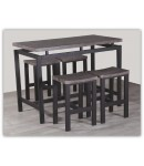 "Table haute + 4 tabourets ""MADY"""