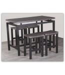 "Table haute + 4 tabourets ""MADY"""