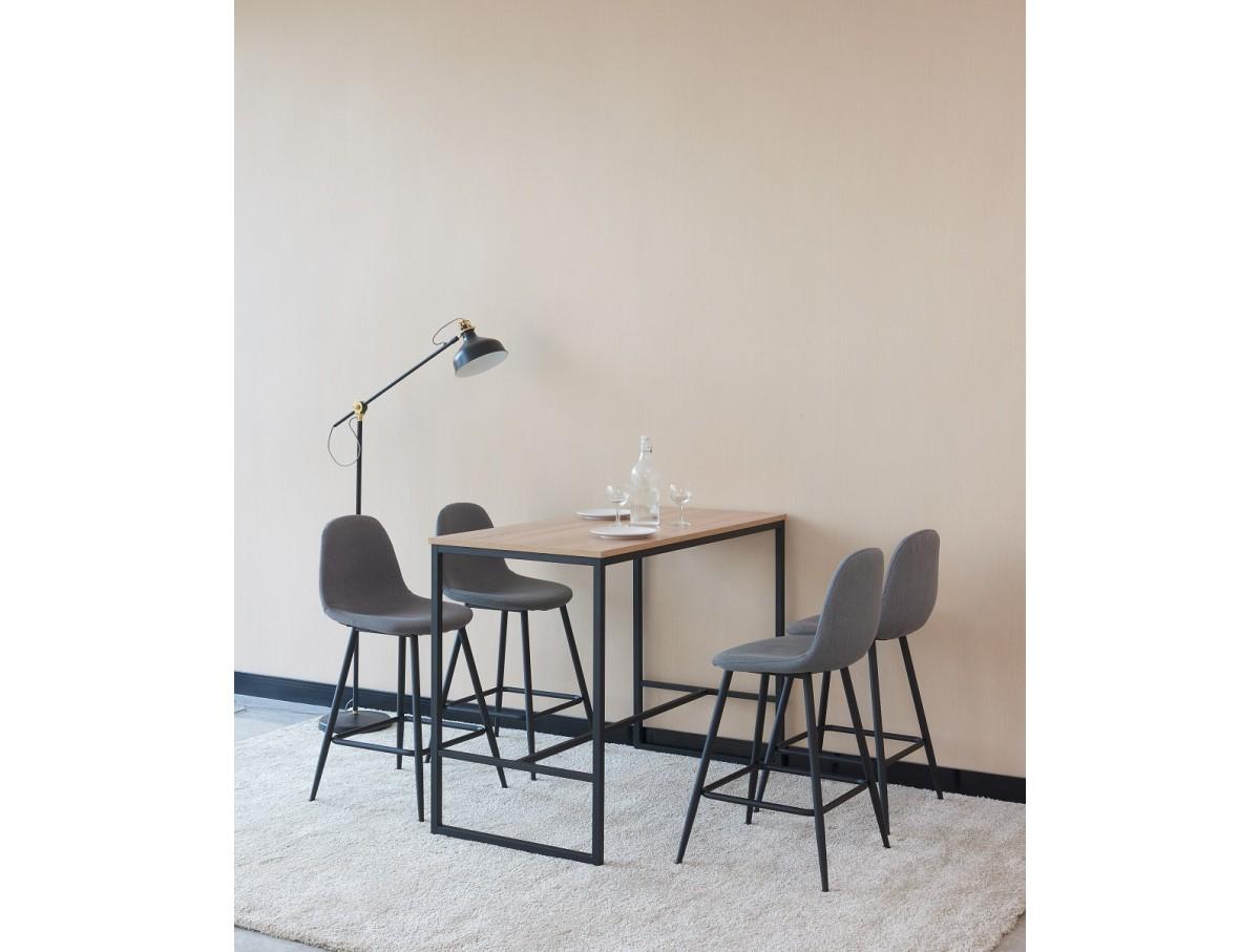Table Haute Avec Rangement table haute + 4 tabourets nantes - tidy home
