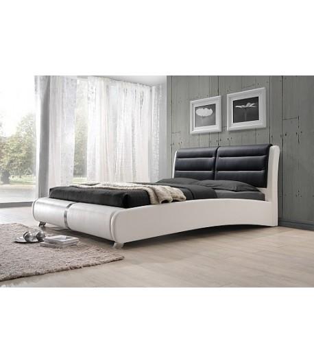 Lit 160x200 eva noir et blanc tidy home for Chambre adulte noir et blanc
