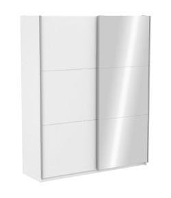 Armoire Alabama avec miroir blanche 180 cm