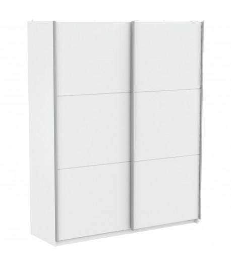 Armoire Alabama 2 portes coulissantes blanche