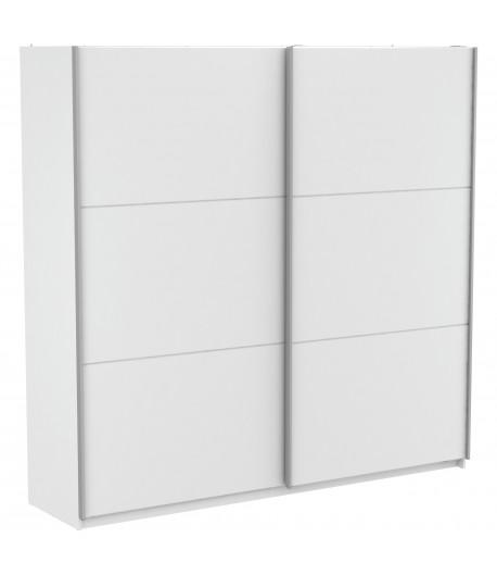 Armoire Alabama blanche 230 cm