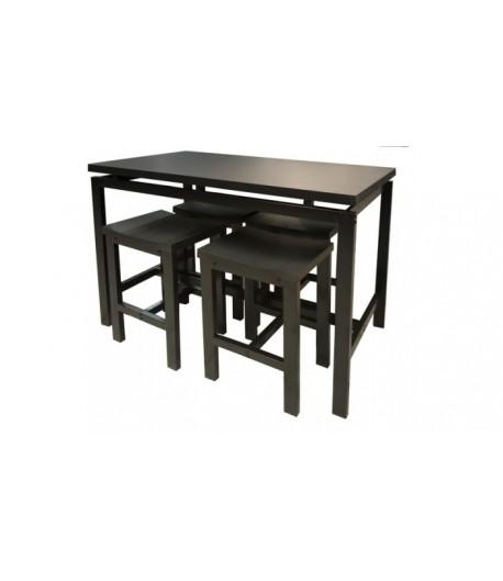 Table haute MAXOU + 4 tabourets