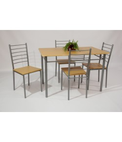 Table + 4 chaises thierry