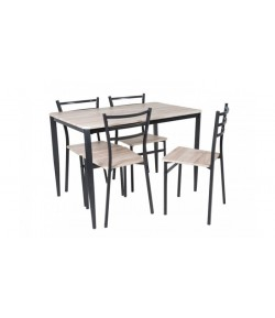 Table + 4 chaises zara