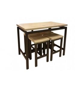 Table haute MAROON + 4 tabourets